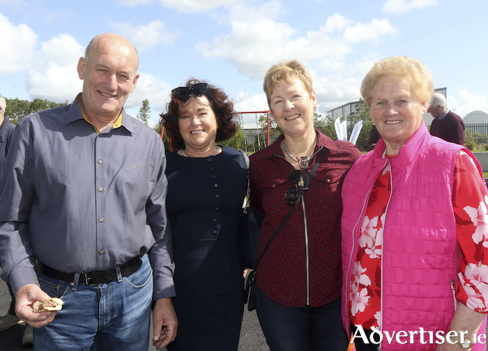 Eddie and Bridie Conway, Ballycroy, with Mary Hanley, Carnmore and Ann Burke, Athenry, at the offical opening of Kevin Burke Tyres new Retail and Wholesale Depot at Junction 17, Athenry.