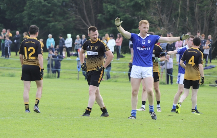 Going through: Eoghan Lavin and Kiltimagh have already booked their place in the last eight - while for Lahardane it is all about ensuring they stay out of the relegation play-offs in the intermediate championship. Photo: Kiltimagh GAA Facebook