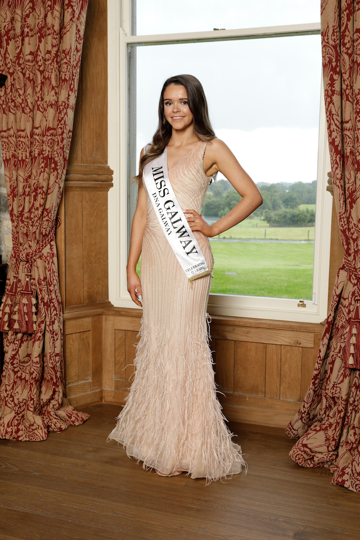 Pictured at the Miss Ireland official launch shoot in  Kiluha Castle, Co Westmeath recently. Miss Galway, Emma Healy.