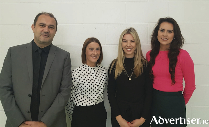 Pictured recently at the annual first year parents' induction at Merlin College are principal John Cleary, deputy principal Sinead Farragher, Kassy Counihan, who also gave a presentation to second and third year parents on Junior Cycle CBAs, and first year head Claire Cunningham.