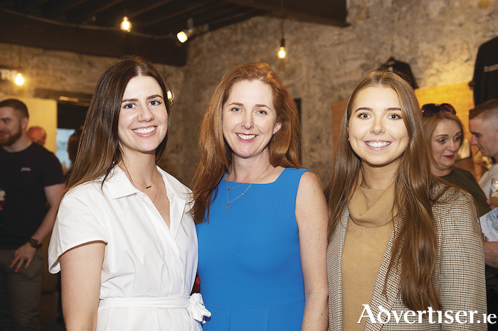 Food PR team Jane Foley, Olivia Collins, and Maria Ryan at the programme launch of Food On The Edge 2019 during Culture Night at Druid's Mick Lally Theatre.