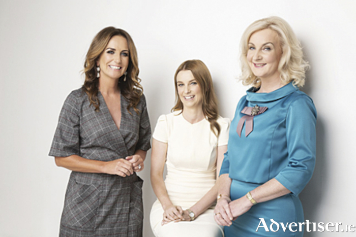 hormone health talk takes place in the Annebrook House Hotel, Mullingar, on October 16, contributors to which will be (l-r), Lorraine Keane, Broadcaster and Ambassador, Sarah Brereton, Cleanmarine Nutritional Therapist and Dr. Mary Ryan, Consultant Endocrinologist.