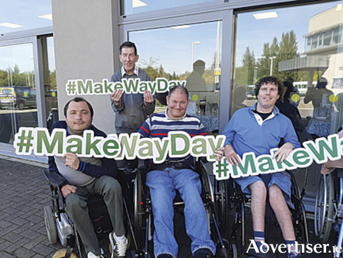 Athlone Access Awareness Group members prepare for their 'Make Way Day' campaign