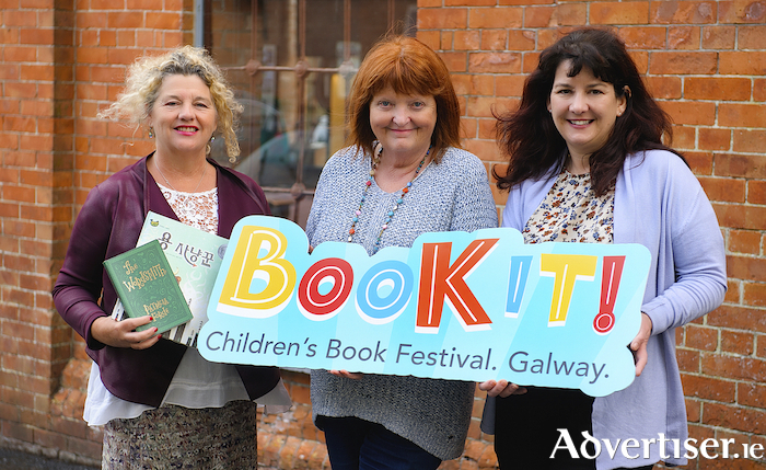 Launching Book it! were (LtoR) Josephine Vahey (Galway Public Libraries), author Patricia Forde, and Sharon O'Grady (Galway County Arts Officer). Photo:- Aoife Herriott