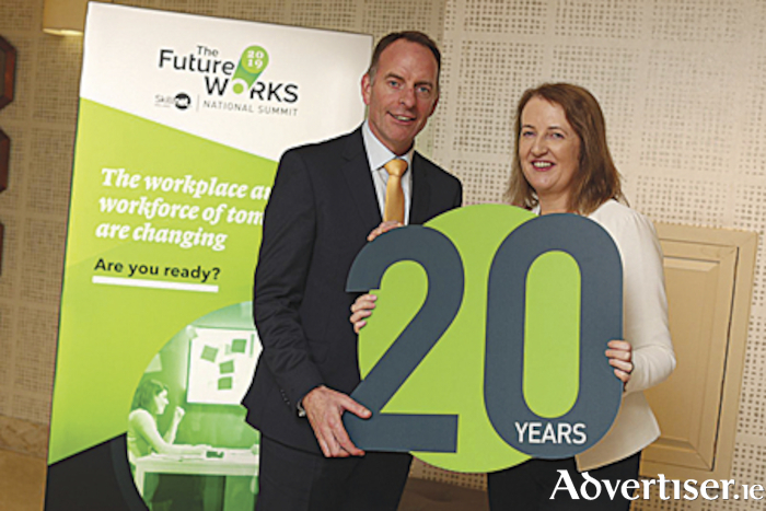 Paul Healy CEO of Skillnet Ireland and Catherine Collins, Manager, First Polymer Training Athlone, pictured together celebrating twenty years of Skillnet Ireland and First Polymer Training.