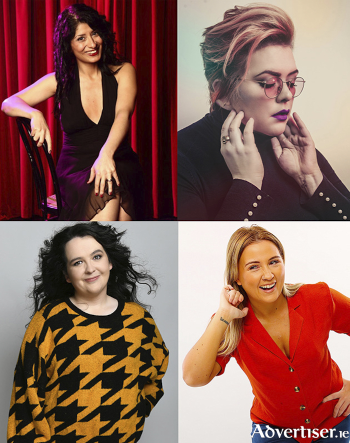 Coming to the Vodafone Comedy Carnival are (clockwise) Shappi Khorsandi, Jayde Adams, Ashley Storrie, and Enya Martin.