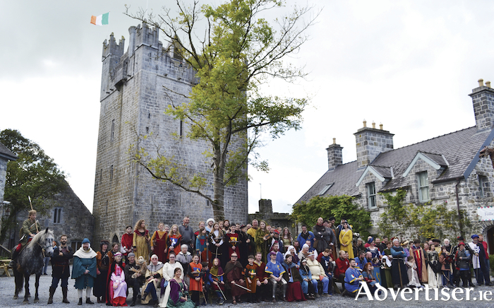 Oh what a knight - Participants and entertainers pictured at Claregalway Castle for the recent Claregalway Castle Shield 2019.