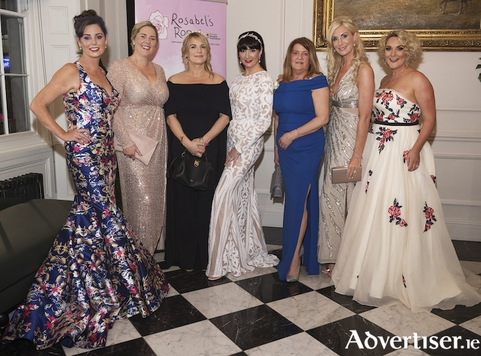 Gillian Duggan, Joanne Murphy, Suzanne McClean, Danielle Gardiner, Tina Monroe, Michelle Murphy, and Caroline Downey at Rosabel's Ball — in aid of Rosabel's Rooms in collaboration with The Irish Hospice Foundation at Hotel Meyrick. Photo:Andrew Downes, xposure