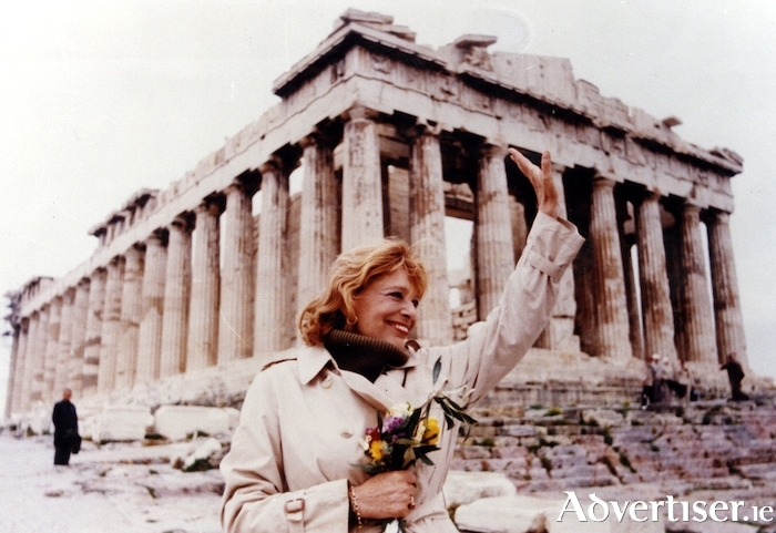 The late Greek singer, actor, and politician, Melina Mercouri.