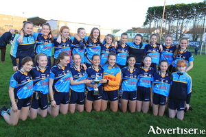 Salthill/Knocknacarra U14 Ladies footballers who were crowned division one county champions after victory over Claregalway on Sunday.