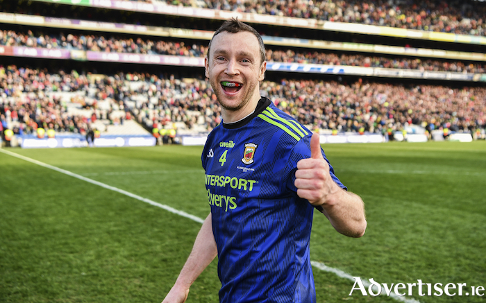 Thumbs up: Will Keith Higgins be celebrating a Mayo Intermediate Football Championship win on Saturday night? Photo: Sportsfile