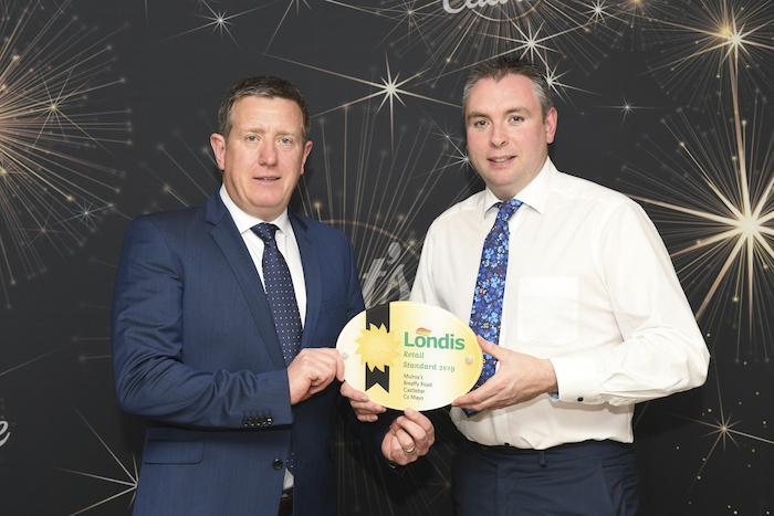 Shane Hopkins, Londis Retail Development Manager and Colm Mulroy, Londis, Breaffy Road, Castlebar.