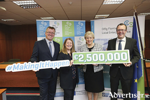 Oisin Geoghegan, Chair of the Network of Local Enterprise Offices, Christine Charlton, Head of Enterprise at Westmeath County Council,  Minister for Business, Enterprise and Innovation, Heather Humphreys TD and Mark Christal, Manager, Regions and Entrepreneurship, Enterprise Ireland.