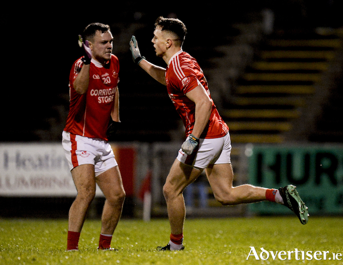Key moment: Ballintubber's Michael Plunkett celebrates his sides goal at the end of the first half against Ballaghaderreen. Photo: Sportsfile
