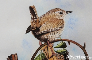 Detail from Little Wren by Pat Flannery.