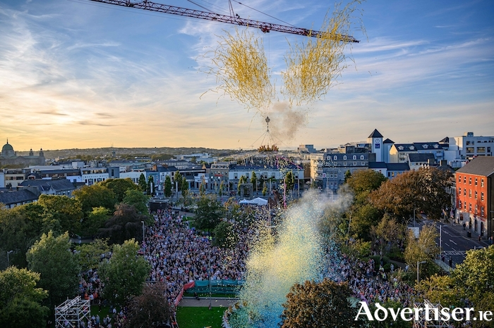 The spectacular scenes at the Galway2020 programme launch in September. 