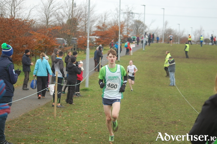 Mathys Bocquet of Craughwell AC, winner of the U15 Boys Connacht cross country