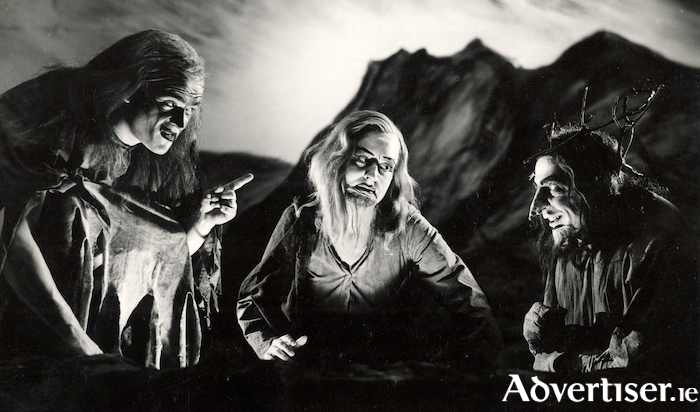 """Double, double toil and trouble; Fire burn and caldron bubble. The witches in MacBeth, from a 1946 photo by Angus McBean."