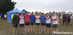 GCH junior men's team, fourth place at the National Cross Country Championships:  L to R,  Aaron Brennan, Rian De Bairead, Jack Maher, Sean Forrest, Thomas McStay, Barry Murphy, Alvaro Gamiz, and Aidan Brock.
