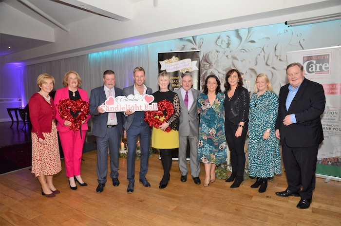 Members of the Candlelight Ball Committee at the events launch: Cora Mulroy, Siobhan Horan, Dara Dunne (Committee Chairperson), Mike Denver, Teresa Ward (Western Care Association), Henry McGlade, Caroline Costello, Sarah Flood, Toni Bourke and Tom Collins. Photo: John Moylette.