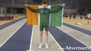Conor Hoade of GCH who produced an oustanding performance for Ireland at the Schools International Combined Events last weekend.