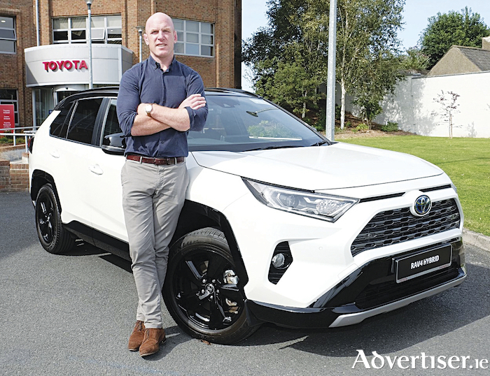 Paul O'Connell, former Ireland rugby start, makes the switch to a Toyota hybrid.