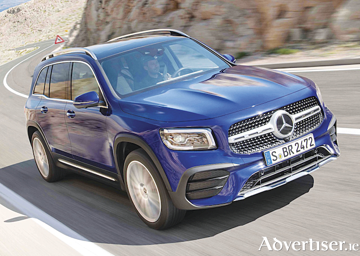 The new Mercedes Benz GLB compact SUV.