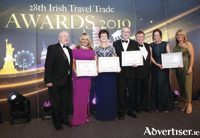 Fahy Travel was named Connacht Travel Agency of the Year at the annual Irish Travel Trade Awards. Pictured is Maura Fahy, MD Fahy Travel, with the ITTN team and fellow regional winners.