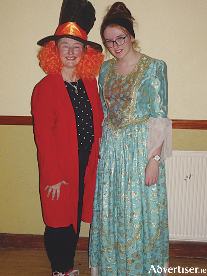 Ann Fallon and Eabha Crehan, who are both part of the Kiltoom Drama Group 'Once Upon A Time' pantomime cast