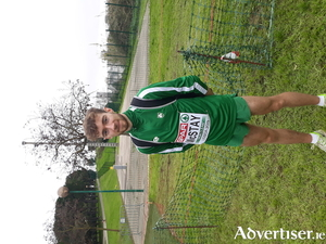 Galway's Thomas McStay- third scorer on the Irish team in Europe's Cross Country Championships.