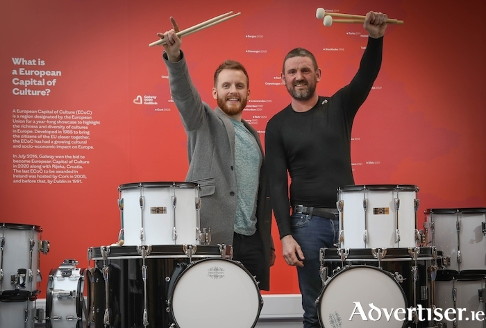 Éimhín Cradock and Rickie O'Neill have been named as the Drum Chiefs for the Galway 2020 opening ceremony. Photos by Aengus MacMahon.