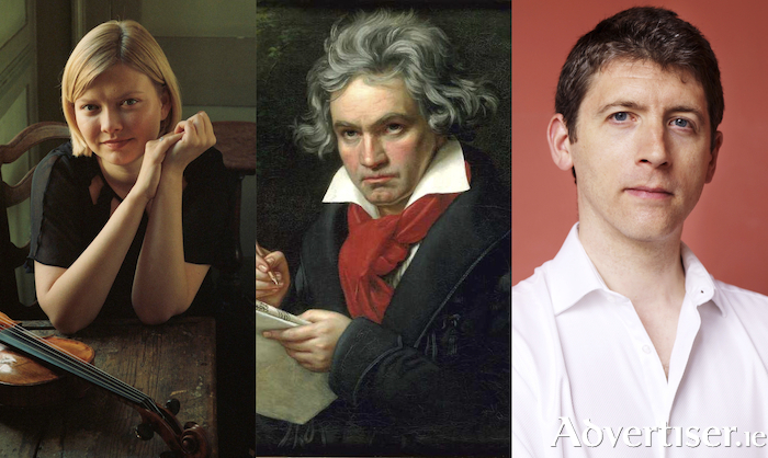 Alina Ibragimova, Beethoven, and Finghin Collins.