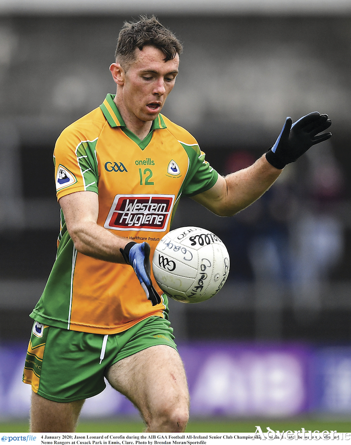 Jason Leonard of Corofin has been in good form with his free-taking this season, says all the squad members are there to 'do our unique job'.