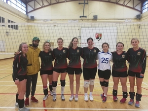 Mayo players v Tallaght Guardians: Left to right: Ciara O'Neill, Deepak Kadyan (coach), Hilde Kneblewski, Edel Nolan, Mikal O'Boyle, Ewilina Stefanovic, Moira Morley, Jackie Prendergast, Aisling Croghan.