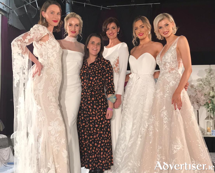 Tina Curran, Belladonna Bridal pictured with Catwalk Models at the Dream Wedding Galway event held in Leisureland recently.
