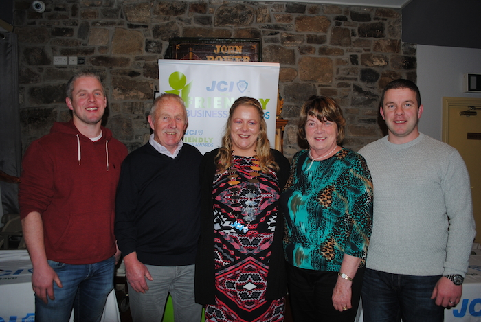 Newly appointed President Aine Mc Manamon with her parents and brothers Enda and Daire, at the JCI Mayo Inauguration 2020 held in Walshs Bridge Inn, Newport