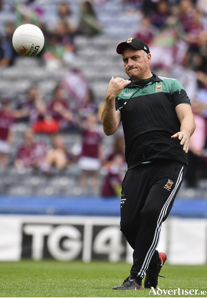 Rolling on: Peter Leahy saw his Mayo side pick up a win in their league opener on Sunday. Photo: Sportsfile