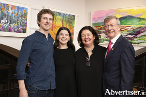 Michael Niland, Eileen Keane, Celestine Rowland, and David Niland at the opening of Eileen's new exhibition.