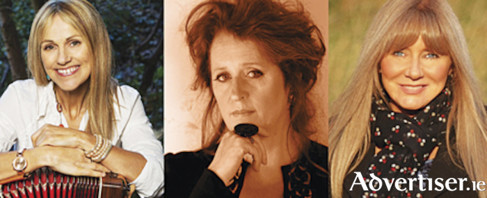 Sharon Shannon, Mary Coughlan and Frances Black, who bring their live show to the Radisson Blu Hotel Athlone on Friday, February 14