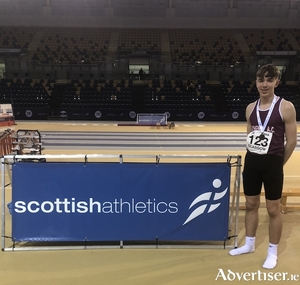 Liam Shaw Athenry AC , bronze medallist at the Scottish indoors Combined Events.