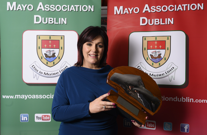 Mayo Roscommon Hospice CEO, Martina Jennings who is the winner of the Virginia Gallagher Mayo Person of the Year award presented by the Mayo Association Dublin
