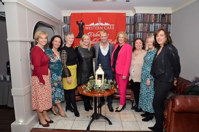 Pictured at the launch of the Western Care Candlelight Ball were: Cora Mulroy; Caroline Costello; Teresa Ward (Western Care Association); Tia Crowley (Western Care Association); Mike Denver; Siobhan Horan; Lorraine Hall, Toni Bourke, Sarah Flood. Photo: John Moylette
