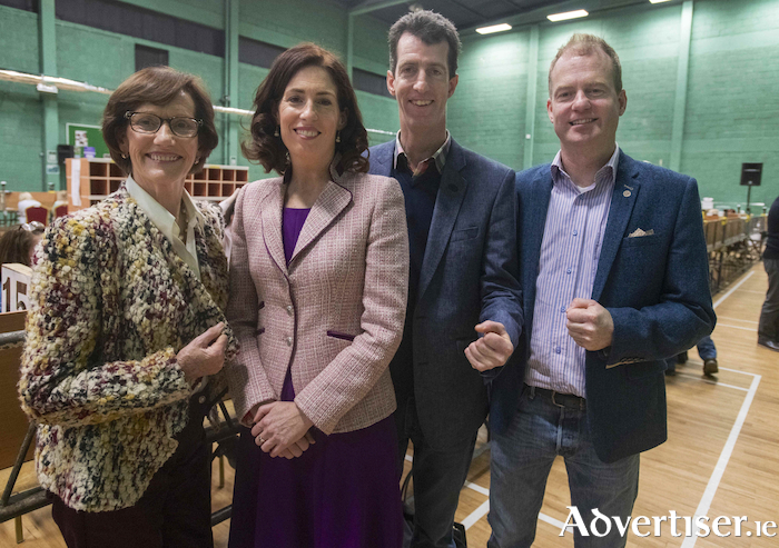 Fine Gael's Hildegarde Naughton TD with her mother Marguerite, and brothers Derek and Alan, following her re-election on Monday. Pictured below, former TD and Minister, Sean Kyne. Photos by Mike Shaughnessy