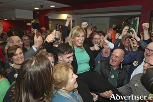 In she goes: Rose Conway-Walsh was elected to the Dáil last Sunday. Photo: Michael Donnelly