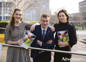 Pictured at the recent UCD agriculture, food science, and human nutrition careers day 2020 are, from left: Ruth Connolly, Headford, Co Galway; Paul Maher, Rosenallis, Co Laois; and Eimear Doherty, Slane, Co Meath. Agri-food is one of  UCD's six strategic research priorities and UCD is ranked number one in Ireland, fifth in Europe, and 19th globally for agricultural sciences by the US News and World Report Agency. There are more than 330 undergraduate students registered each year across the 12 undergraduate degree programmes offered by the UCD School of Agriculture and Food Science. For more information see www.ucd.ie/agfood. Photo: Patrick Browne.