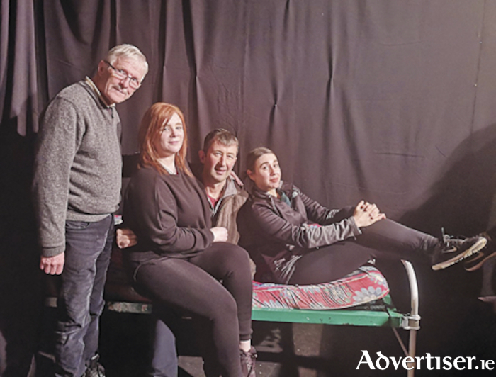 The cast of 'Relatively Speaking' by Alan Ayckbourn which will perform in Athlone Little Theatre from February 21 to 28. Left to right, Brian Foy, Leona Burke, Ronan Flynn, and Katherine Wheatley.