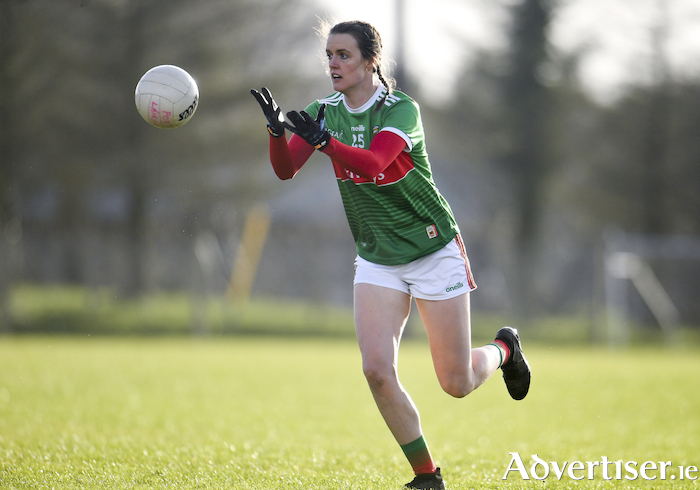 On the ball: Clodagh McManamon in action for Mayo last weekend against Waterford. Photo: Sportsfile