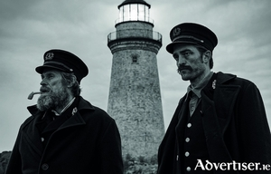 William Defoe and Robert Pattinson in The Lighthouse.