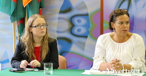 TDs Mairéad Farrell and Mary Lou McDonald.