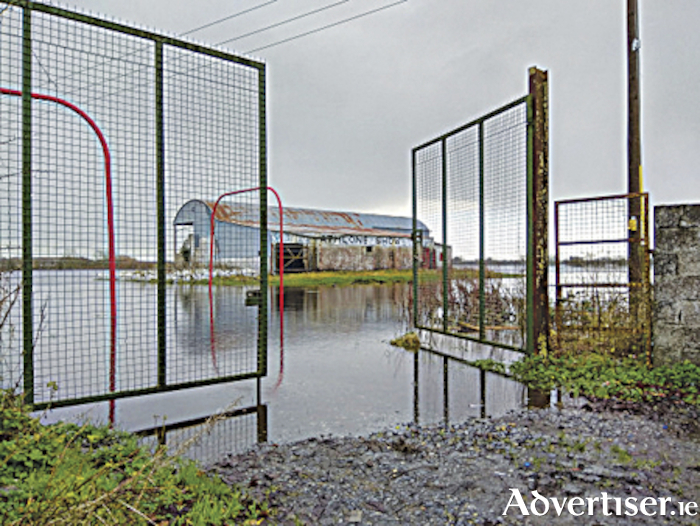 The former Athlone Showgrounds in flood following a period of incessant rainfall